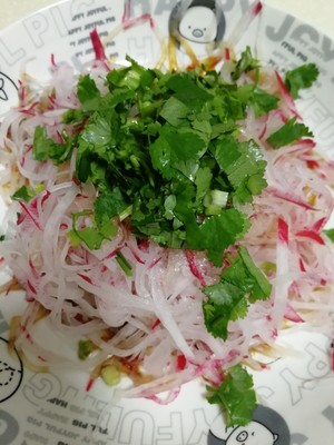 Shredded radish salad